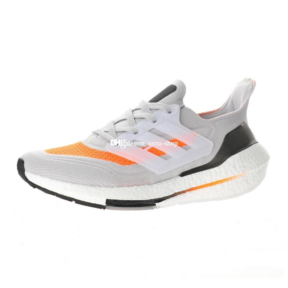 2021 Ultraboost Sneaker per aumenti da uomo Sneakers Mens Scarpe sportive da donna Scarpa da donna Scarpa da donna Scarpa da donna Bianco Arancio Atletico Chaussures