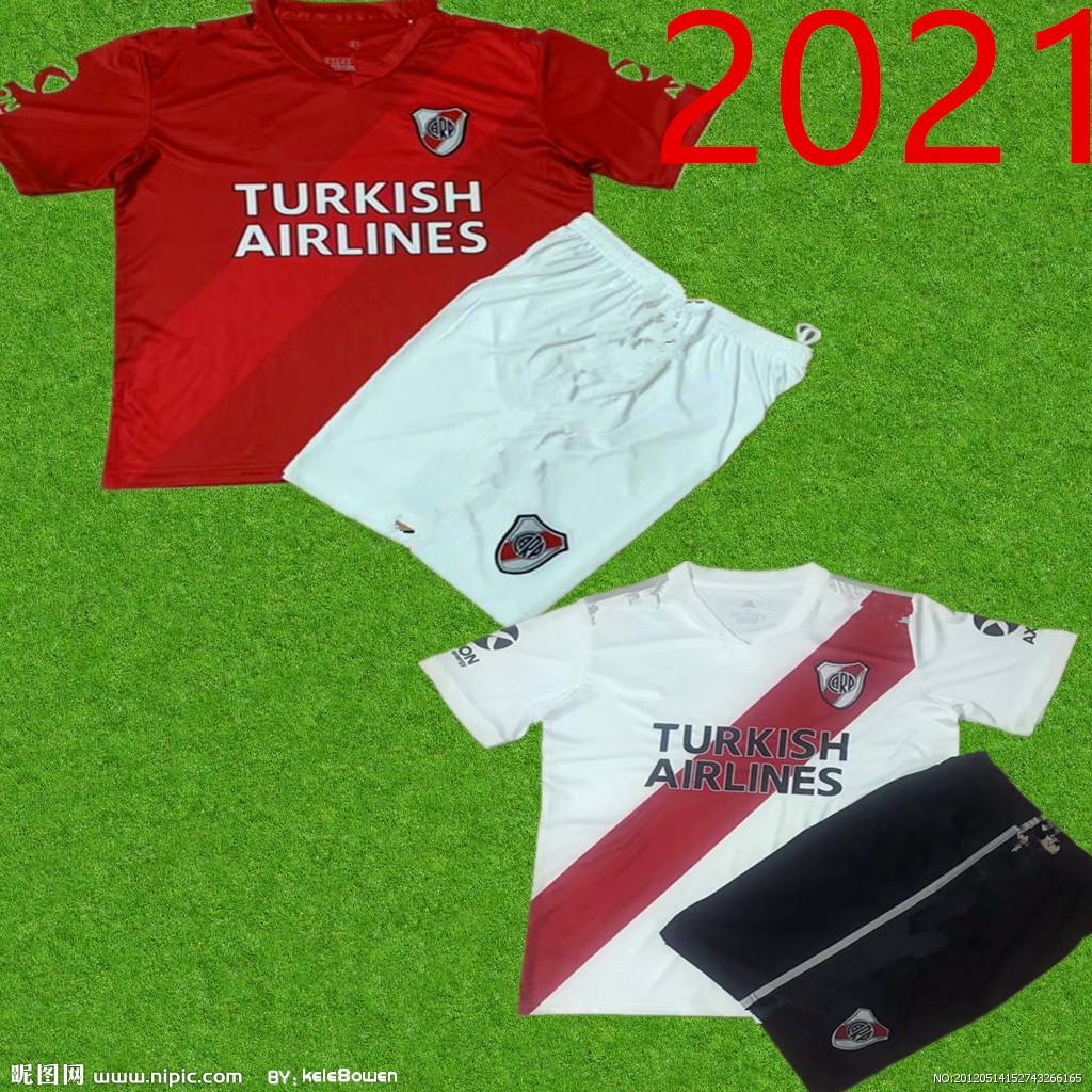 2020 kids River Plate home white Soccer Jersey River Plate away Red G.MARTINEZ QUINTERO PRATTOSoccer Shirt 20/21 riverbed Football jers