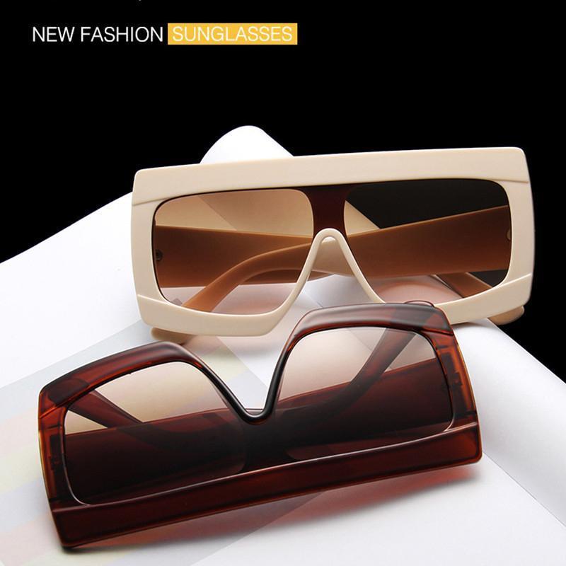 Keeper Cancella lente Donne lunghi UV400 Telaio Quadrato Occhiali da sole Occhiali da vista EyeGlasses Modo occhiali da sole Occhiali da sole Ombra Uomo Plastica Big Mnmau