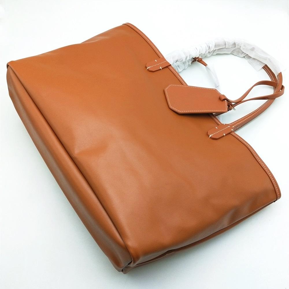Mode Fraueneinkaufstasche Große und mittlere Strandtaschen mit echtem Lederbesatz und griff wasserdichte reversible Totes Geldbörse mit Staubbeutel