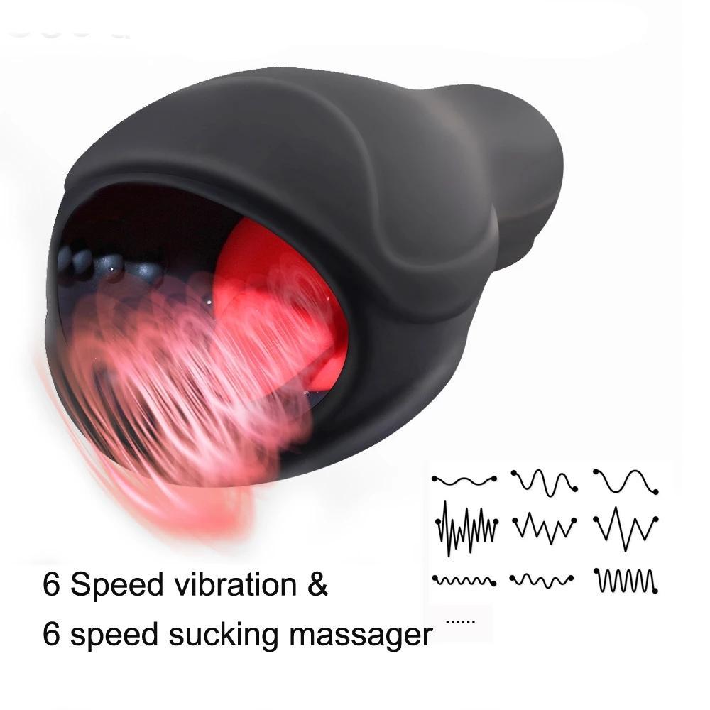 USB Şarj Titreşimli Akıllı Isı Tutku Kupası Elektrikli Yalama Otomatik Oral Kupası Uçak Kupası Seks Makinesi Erkek Masturbator
