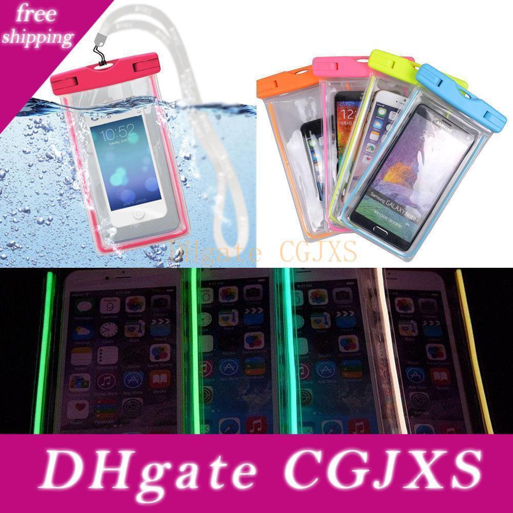 En cas de brillance lumineuse camouflage Éclairage sombre imperméable à l'eau Universal Soft Bras housse de pochette pour tous téléphone 7 8 CE