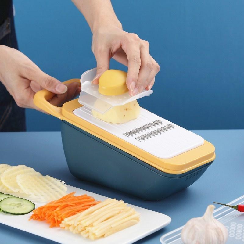 4 بليد الخضار القاطع التقطيع مقشرة البطاطس القطاعة المطبخ متعددة الوظائف الخضروات المروحية الخضار مبشرة اكسسوارات المطبخ Y1204