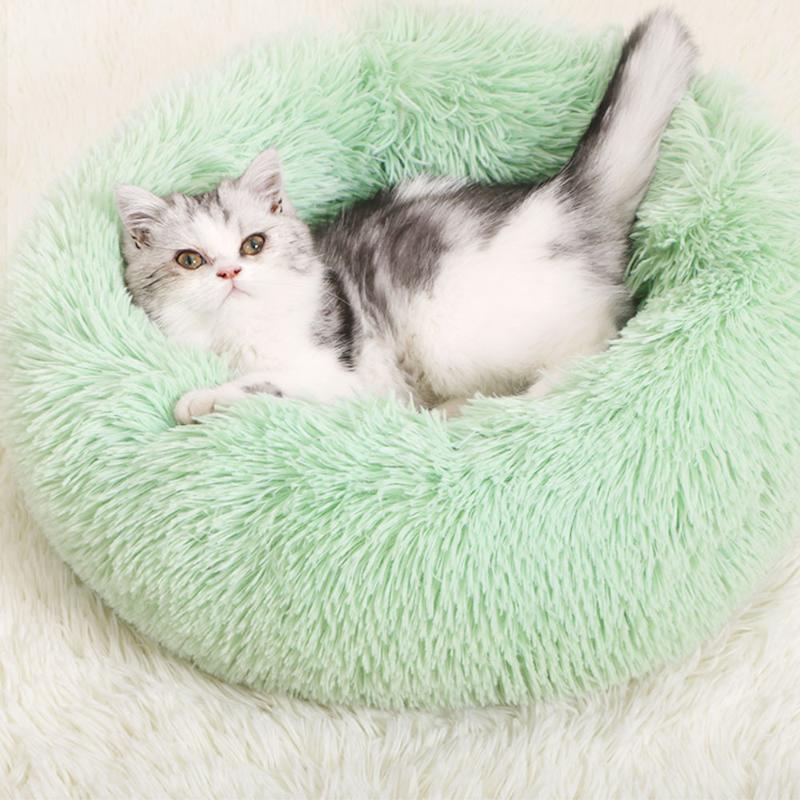 Собака кровати питомца круглая плюшевая кошка кровать в форме спальный мешок питомник кошка щенок диван домашний дом зима теплые кровати подушка # 151