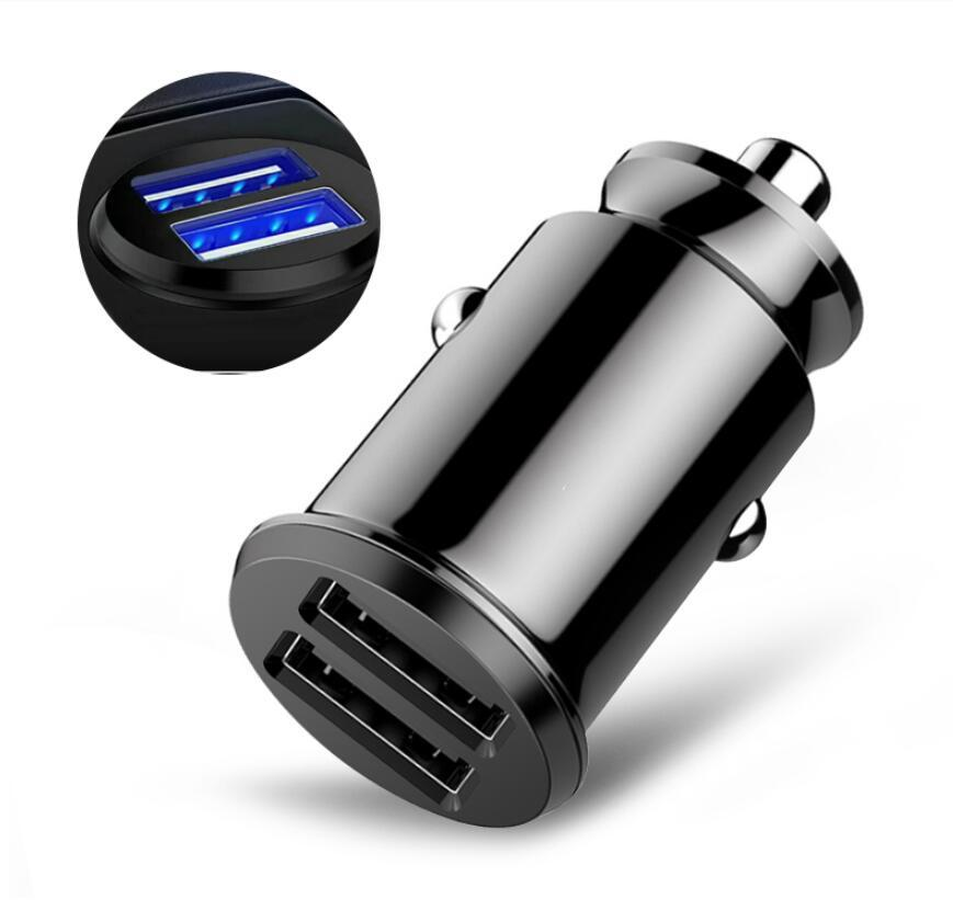 Mini USB Car Charger Quick Charge 3.0 Fast Charging For iPhone for Huawei Auto Type C PD 18w Mobile Phone Charger