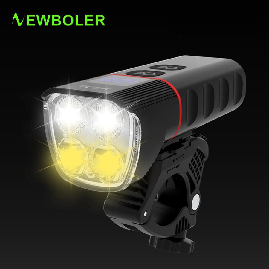 النواب 6400 مللي أمبير دراجة ضوء usb تحميل 1600 التجويف دراجة ضوء IPX5 ماء الصمام المصباح كملحقات قوة البنك دراجة 201027