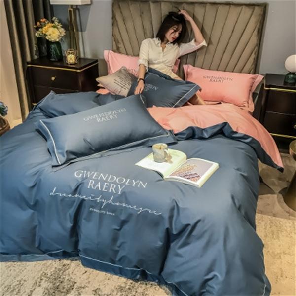 Üst sınıf sıcak satış 100% pamuk levhalar, nevresim, yastık kılıfları, yatak takımları, çeşitli dört parçalı yatak örtüleri Q1215