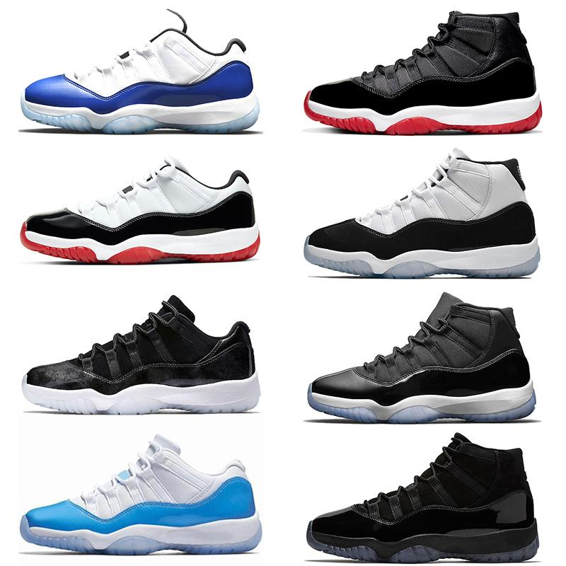 11s Homme Jumpman Femmes Basketball Chaussures 11 Hommes Blue Concord Blanc Bred Gamma Métallique Silver Designer Entraîneurs Sport Sneakers Taille 36-47
