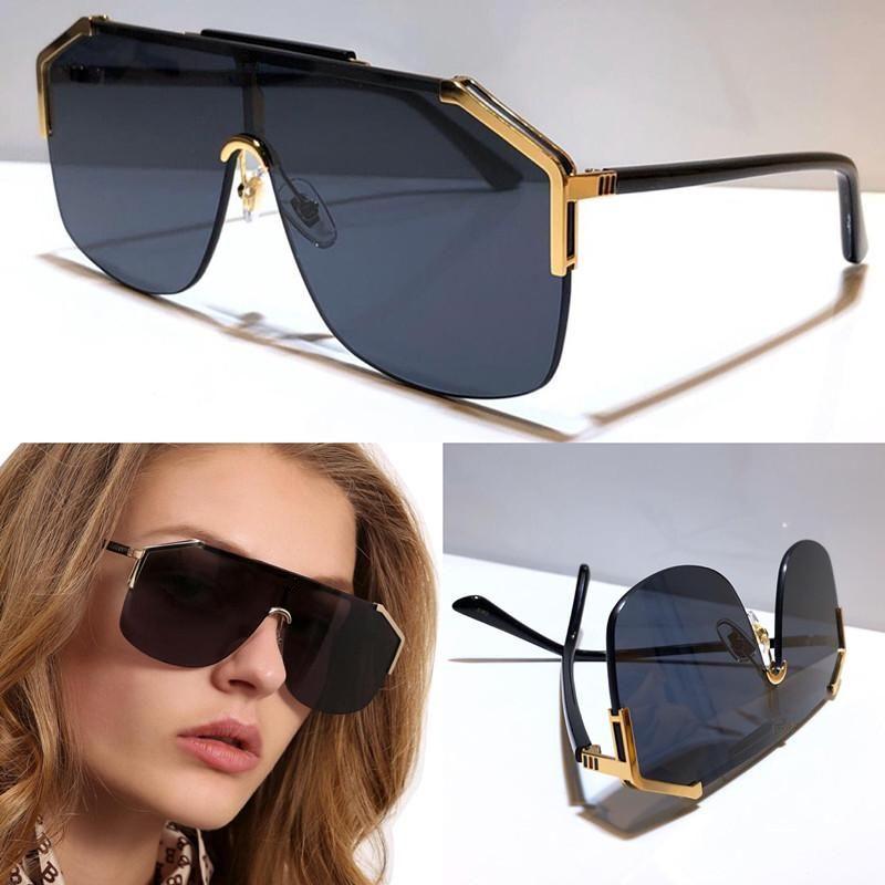 Design Sonnenbrille Brille 0291 rahmenlos Zierbrillenmode uv400 Linse Top-Qualität einfach im Freien Unisex Maske Sonnenbrille 0291S