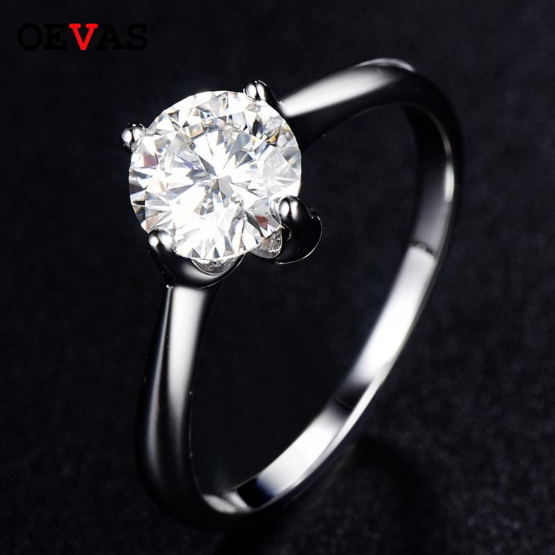 Anelli di fidanzamento scintillante Moissanite per le donne 100% 925 sterling argento di alta qualità regali di gioielli da sposa nuziale