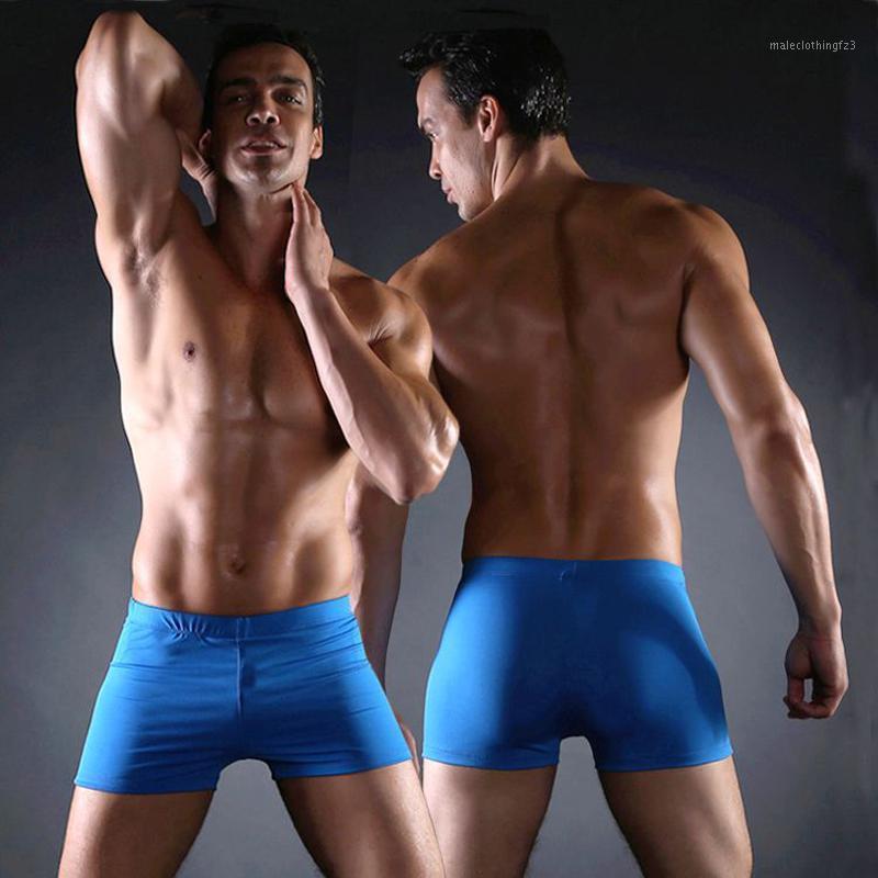 Traje de baño para hombres 2021 Traje de baño clásico Hombres Vintage Troncos de natación masculinos sólidos Vintage Tallas grandes para el traje de baño para hombre sexy1