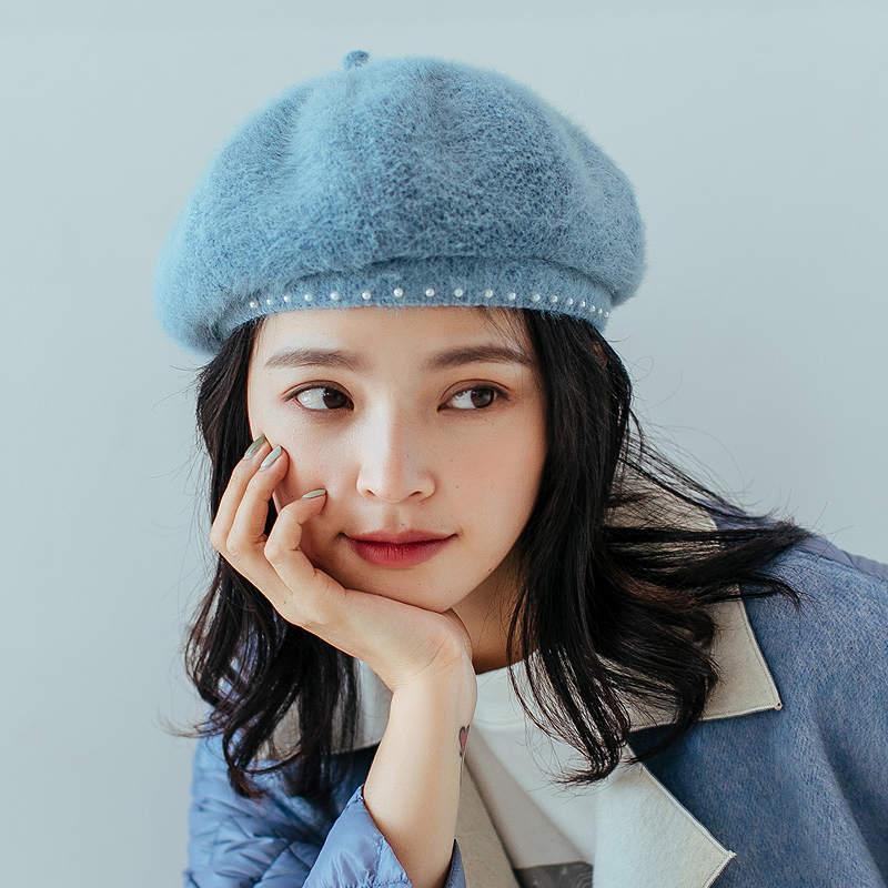 Chegada nova! Designer Boina chapéu boné de luxo moda artista chapéus com pérolas mulheres