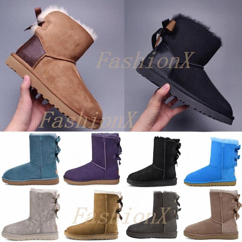 [6 gün içinde sevk] Tasarımcılar Kar Botları Kadın Klasik Kürk Ayakkabı Ile Bayan Lady Kış Yay Diz Düz Sneakers Ayak Bileği Platformu 2021 #