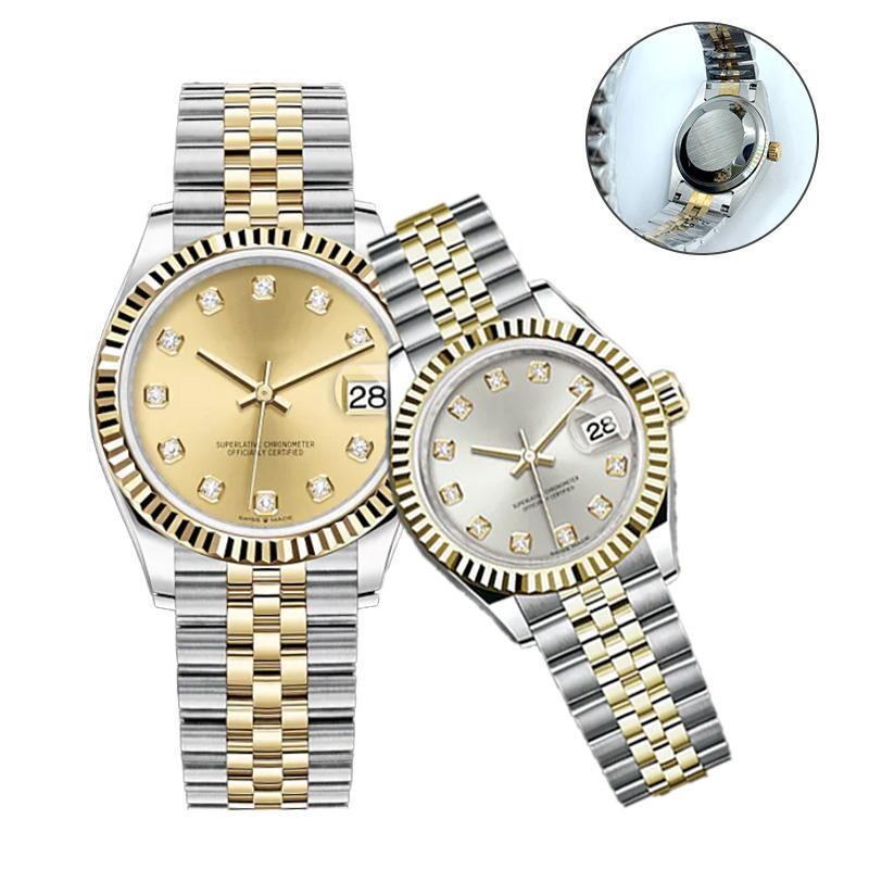 U1 Qualidade Montre de Luxe Mens Relógios Automáticos Aço Inoxidável Mulheres Luminosas Assista Casais Estilo Clássico Relógios RELOJ DE LUJO