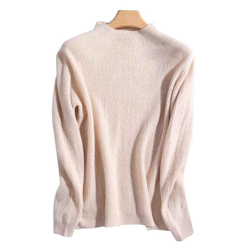 Stripe Col O-Cou Automne et Hiver Femmes Pulls Merinos Laine Cachemire Basic Pull Femme 2020 Nouvelle mode Pull à manches longues
