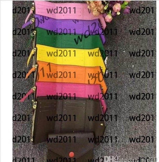 Кошелек мужская коробка карта с качеством кожаный верхний короткий держатель многоцветный кошелек классический молния женщин IVMFF