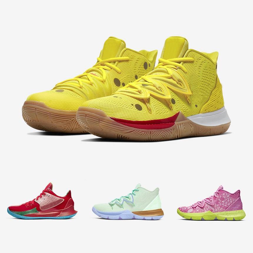 2021 الإسفنج X Kyrie 5 الأناناس البيت 5 رجل كرة السلة أحذية ايرفينغ 5S كتابات الحفاظ على سو الطازج العشرين الذكرى الرياضية أحذية رياضية