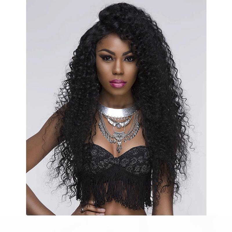 Spitzefrontperücke für Afro Amerikanische volle Spitze-menschliche Haarperücken mit Baby-Haar-brasilianischen lockigen remy haar freies Verschiffen