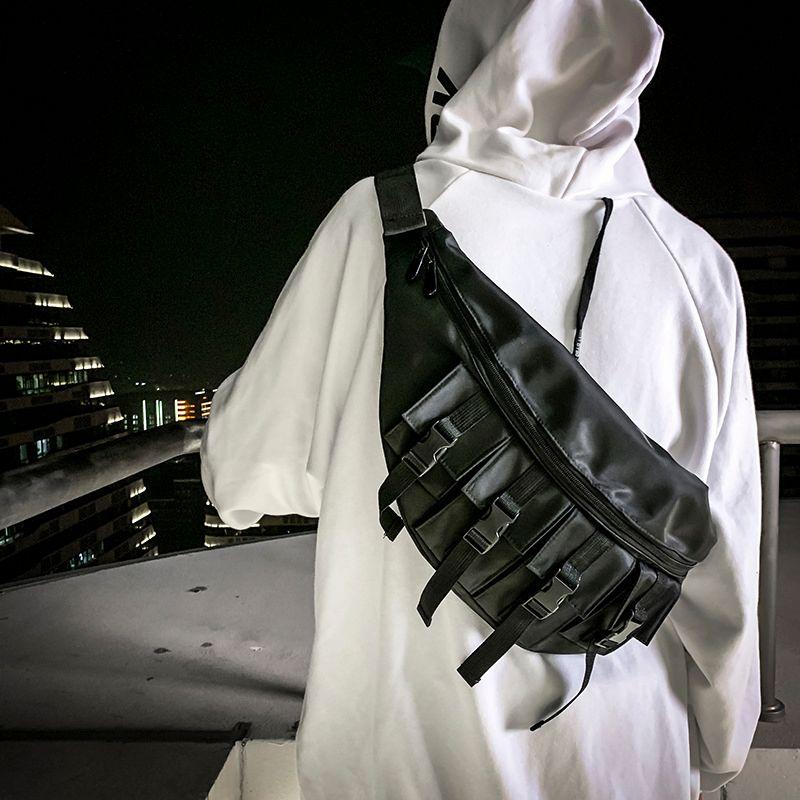 Men Large Chest bag Waterproof Fashion waist Pack Outdoor Sport Crossbody Casual Multi-pocket Travel Male Bum Belt Q1221