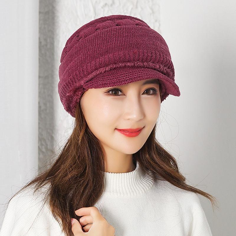 2020 Winter-Balaclava Beanies Mutter Hut Frauen Warm Stärke Reiten im Freien Hut Solid Color Beanie Mütze Mask New