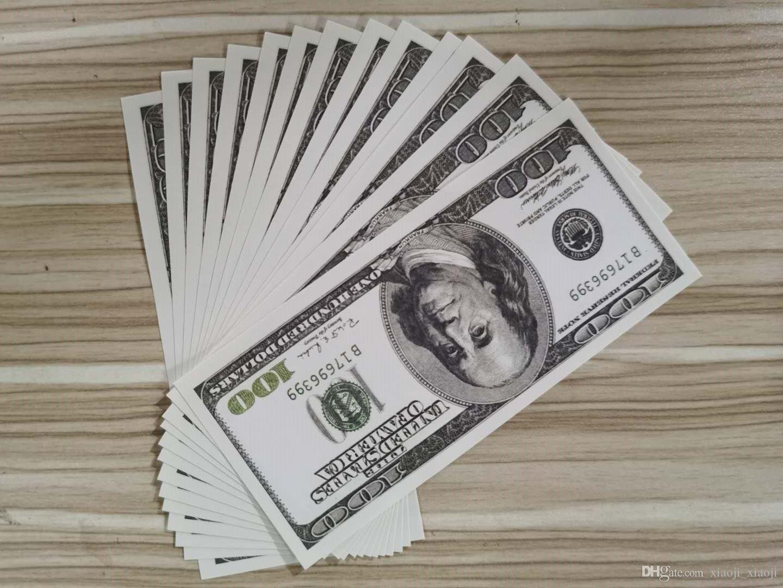 Fake Normal Gift Banknote Euro USD 100 Play Money Prop Creative Dollar Size Money-D2 Banknote Movie Money Children's Wrxcq