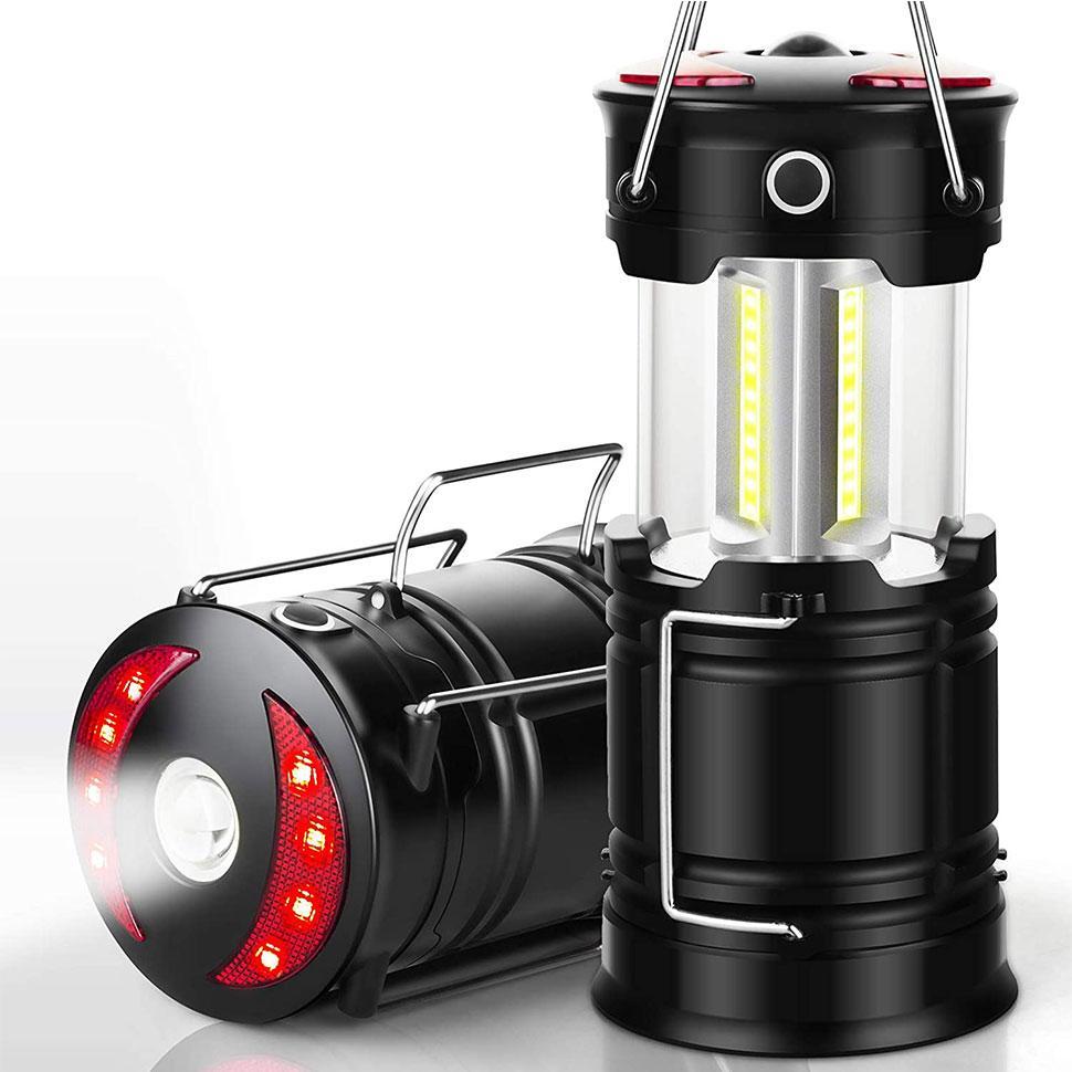 Кемпинговые фонари, аккумуляторные светодиодные фонарики с фонариком и основанием магнита для урагана, походов, чрезвычайных ситуаций