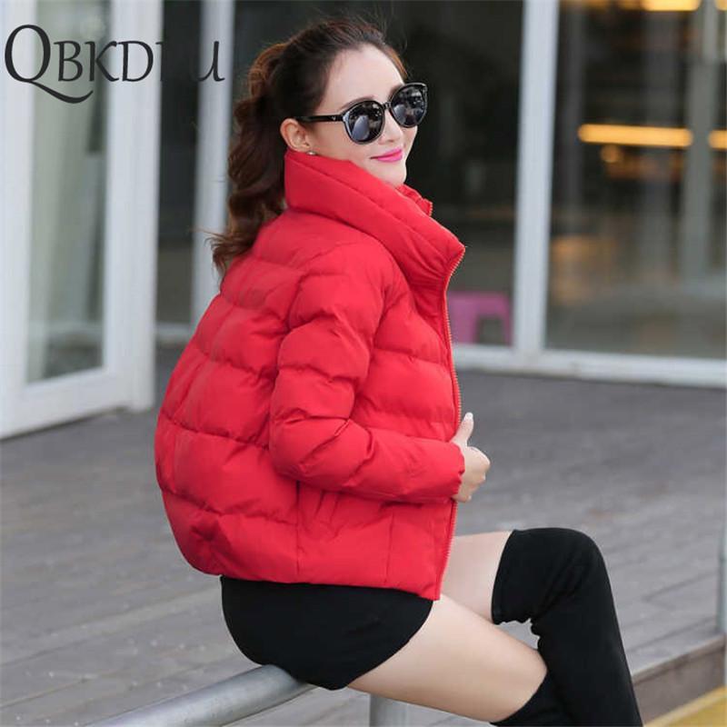 Frauen Kurze Jacke Parkas Mujer 2019 Winter Warme Jacke Mantel Mode Herbst Feste Warme Verdicken Gepolstert Down Parka Weibliche Outwear T200114