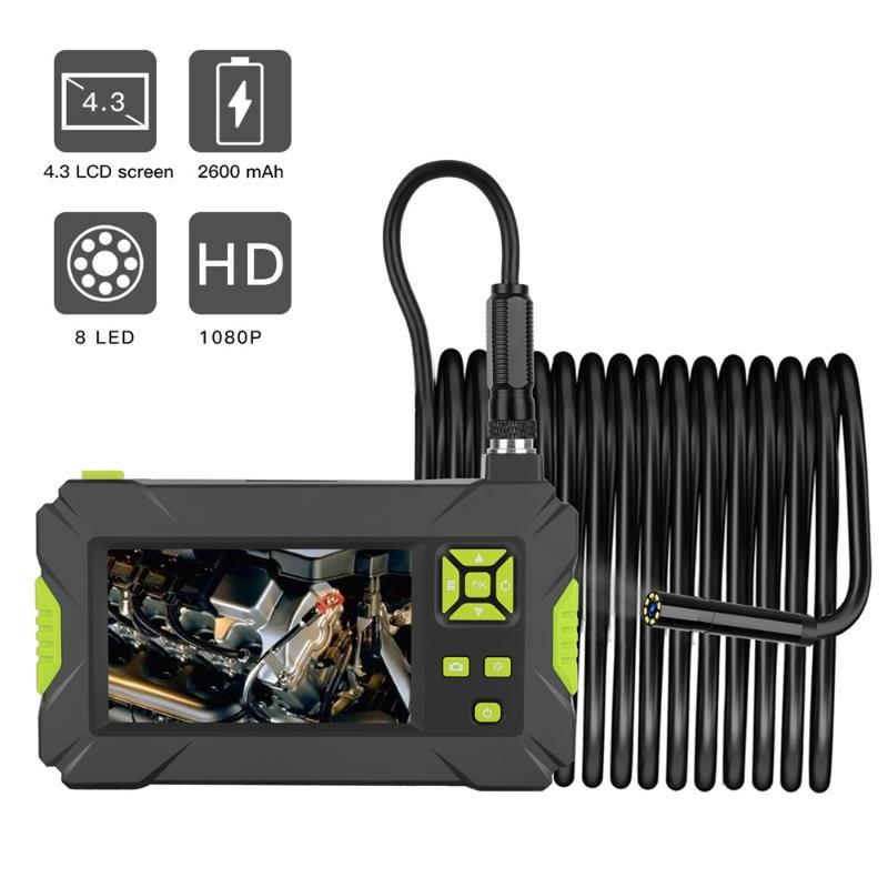 Kebidumei IP67 Waterproof Digital Borescope 8MM HD 1080P P30 Industrial Endoscope 4.3inch HD LCD Camera Video Inspection Camera