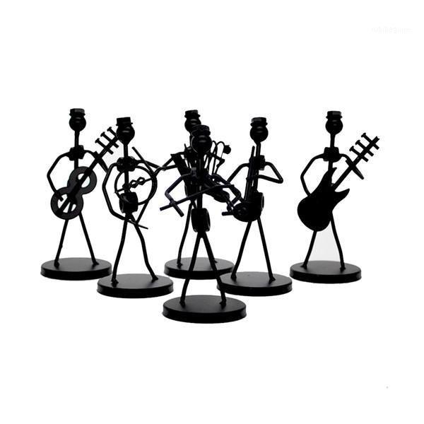 1 unid mini hierro música banda modelo miniatura músicos figurines artes artesanía decoraciones fiesta regalo favorito design 1