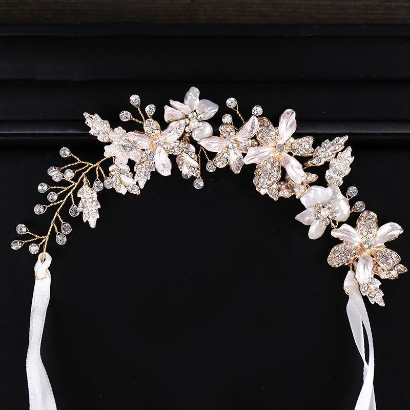 Gold Floral Rame Wire Bridal Headpiece Tiara Accessori per capelli da sposa Accessori per capelli Vigna Handmade Fascia Fascia per la sposa Regalo