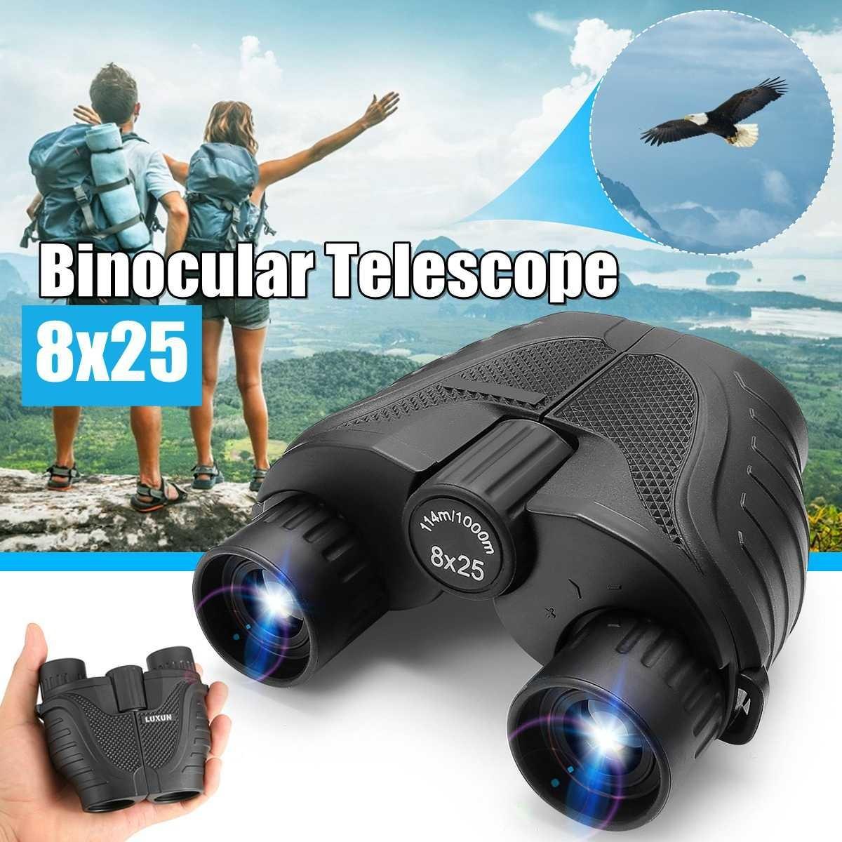8x25 Compact Увеличить Бинокль Long Range 1000m Складной Hd Мини телескоп Мощной Оптика Охота Спорт Кемпинг Инструменты