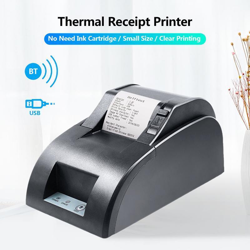 Aibecy Desktop 58mm Тепловой принтер Принтер Принтер Принтер USB Проводной Подключение Поддержка ESC / Команда для Супермаркета Ресторан