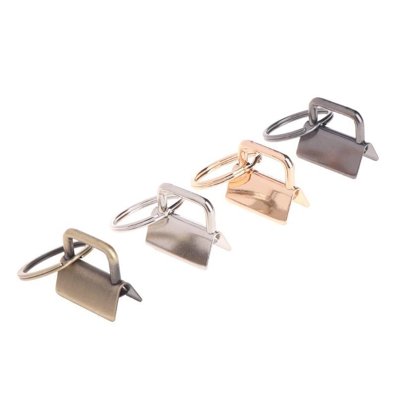 10pcs Key FOB Hardware de 25 mm llavero Split Ring para pulseras de muñeca Clip de cola de algodón
