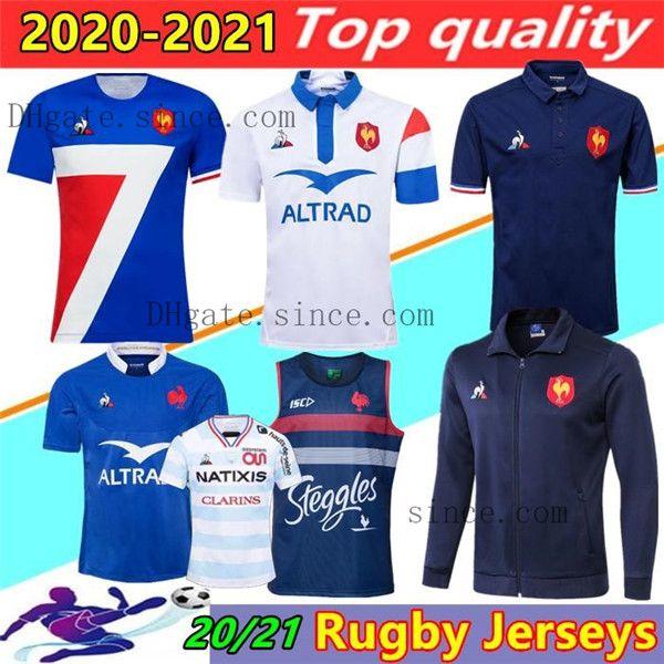 2021 2020 Франция Супер регби трикотаж жилет с курткой 2020 2021 Франция Рубашки регби Майолот де ноги Французский Болн регби рубашка куртки Таиланд