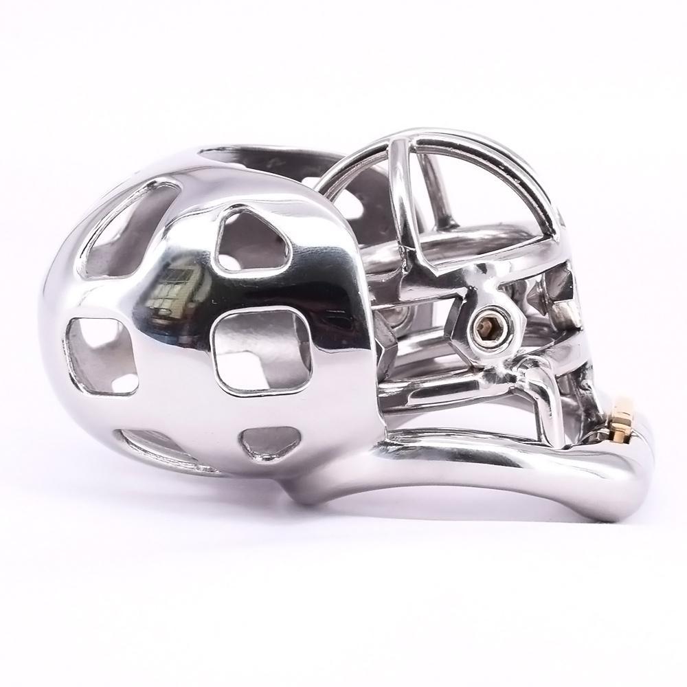 남성 순결 스파이크 수탉 케이지 스테인레스 스틸 아크 남근 반지 금속 순결 장치와 음낭 소매 구속 기어 섹스 토이