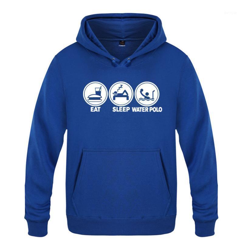 Eat Sleep Water Funny Creative Hoodies Men 2020 Men's Pullover Fleece Hooded Sweatshirts1