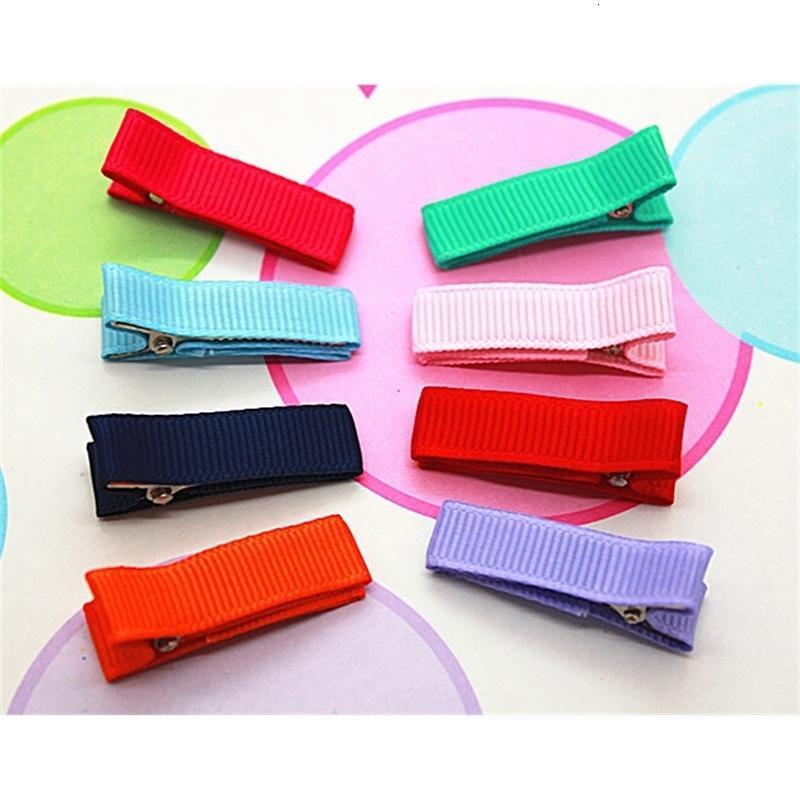 Ye9kaccessory 35mm DIY клип Все покрытые ленты полностью выровняны аллигатор двойные зубные зажимы волосы луки волос цветы