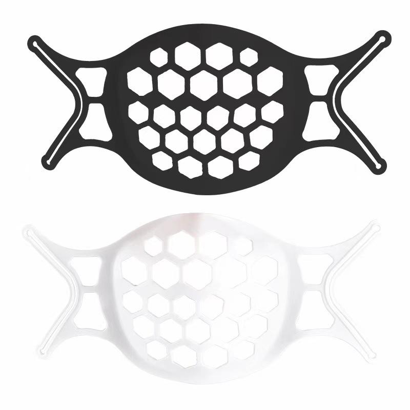 2021 adulto negro máscara de oro soporte interior soporte silicona desechable máscara soporte 3d estéreo estéreo anti-aburrido explosión