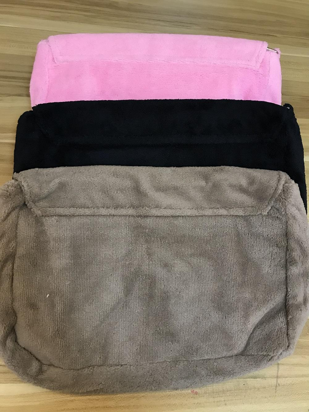 Moda Bolsa de maquillaje suave Classic Winter 3 colores Piel de fiesta bolsa de franela Bolso de hombro de buena calidad Paquete de almacenamiento de peluche