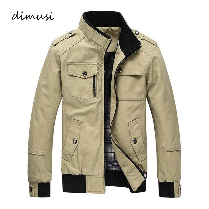 Autumn Winter Men's Jackets Casual Stand Collar Military Windbreaker Coats Male Fashion Business Outerwear Coats
