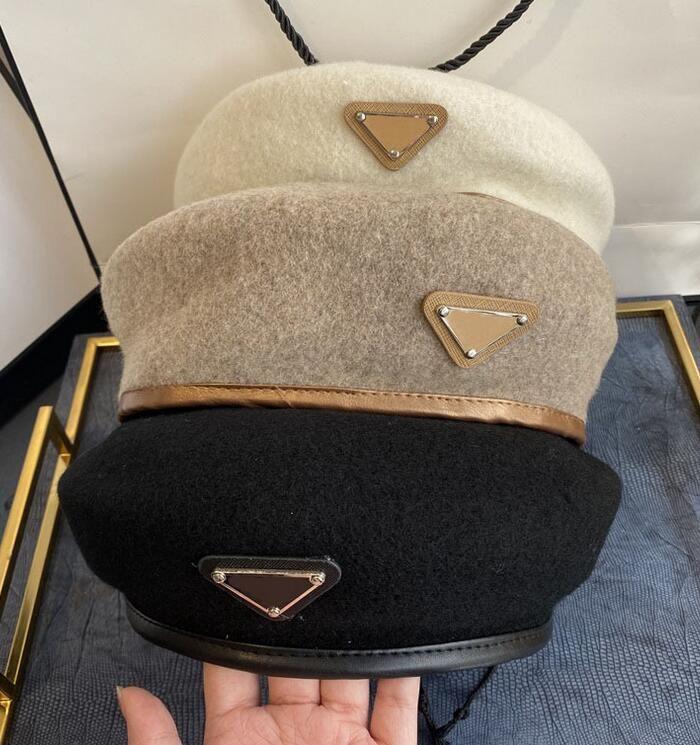 Designer di alta qualità Brand Casual Lettera Berets Caps Moda Donne Inverno Berretti caldi Berretti all'aperto Berlina Hip-Hop traspirante