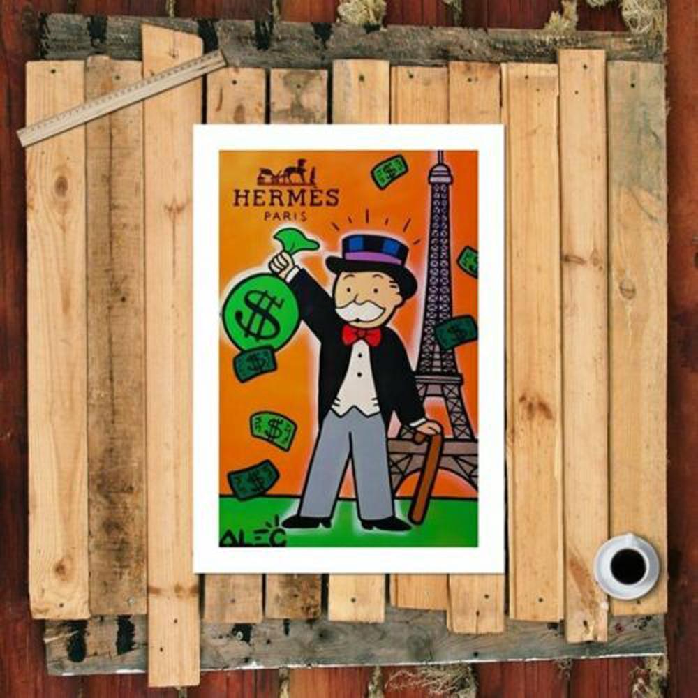Alec Monopoly Artworks París Decoración del hogar Pintado a mano HD Imprimir Pintura al óleo sobre lienzo Arte de la pared Imágenes de lienzo 210204
