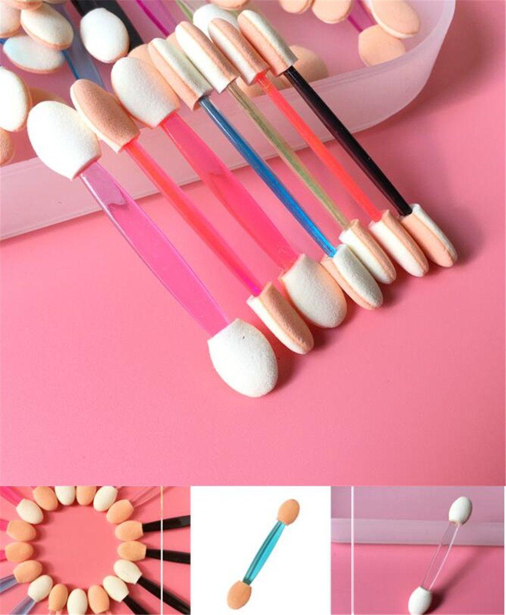 Sponge Stick Eye Shadow Applicator Strumenti per il trucco cosmetico Doppia pennello dell'ombretto a doppia testa per le donne Strumento di trucco