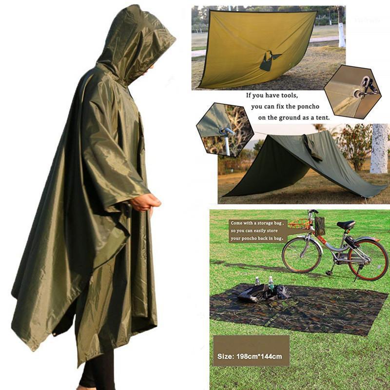 Poncho multifuncional Poncho impermeable impermeable impermeable caminata Poncho Picnic Mat para Accesorios de viaje para acampar1