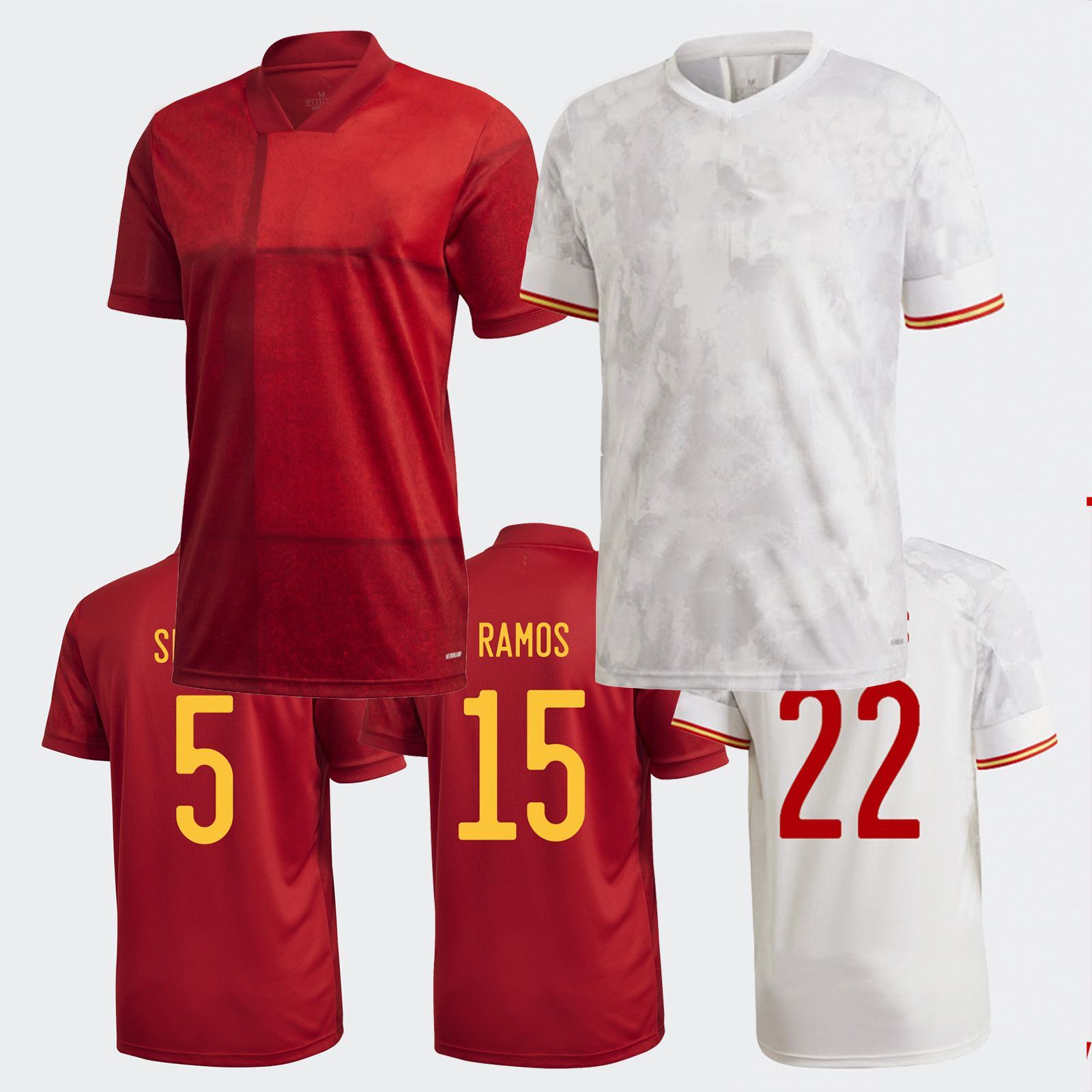 2020-21 сезон España футбол футбол домой и выездные фанаты Ramos Isco фанаты высококачественные майки (выберите Flocking)