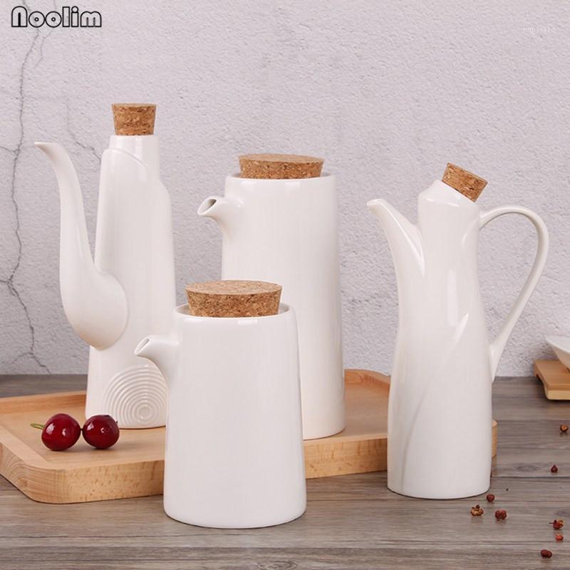 Noolim المطبخ الخزف النفط وعاء زيت الزيتون صلصة الصويا الخل البلوعة يمكن زجاجة زجاجة أدوات المطبخ المطبخ زجاجات تخزين زجاجات 1