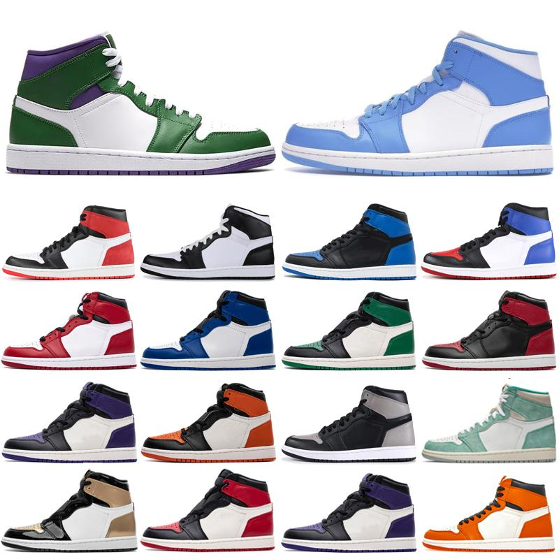 1S High og сосна зеленый суд фиолетовый тень баскетбол обувь NRG Gold Toe BG (GS) MORED TOE Game Royal спортивная обувь бесплатная пересылка