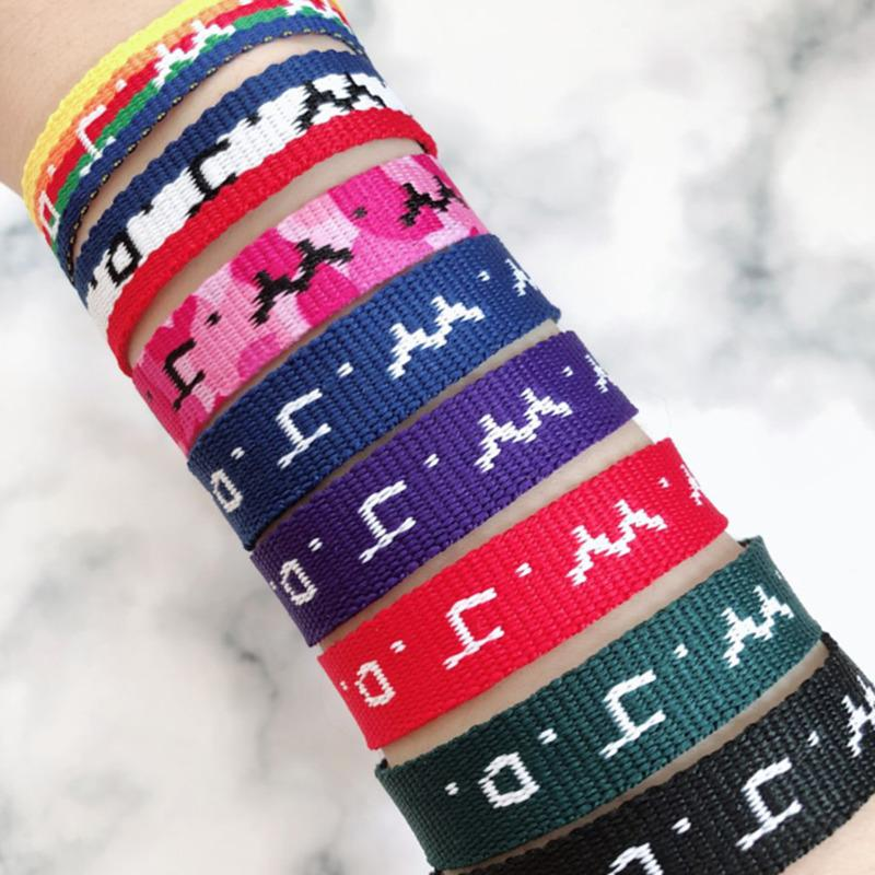 Bluestar Multicolor WWJD Armband Religiöse Armband Was würde Jesus tun Bible Teen Sinnful Geschenke Armband WWJD Spezielles Geschenk Y1119