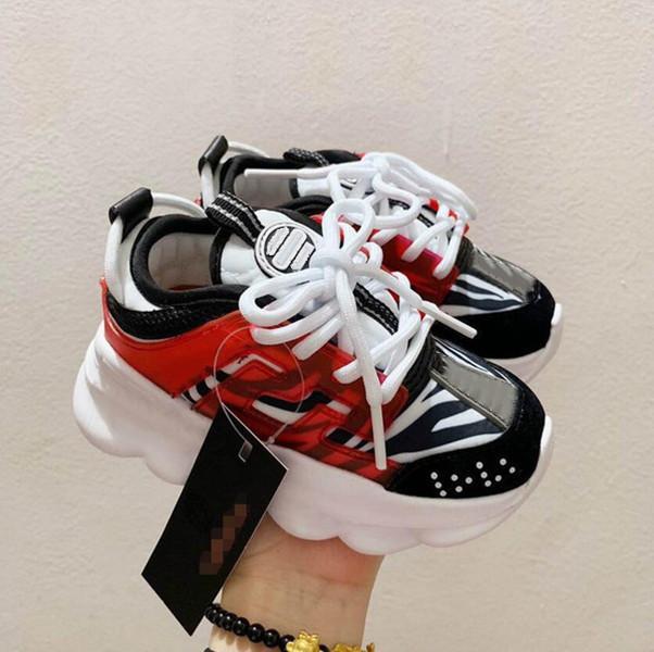 Çocuklar Sneakers Bebek Yürüyor Sneakers İtalya Tasarımcısı Çok Renkli Kauçuk Süet Leopar Beyaz Baskı Kalın Alt Erkek Kız Basketbol Ayakkabı