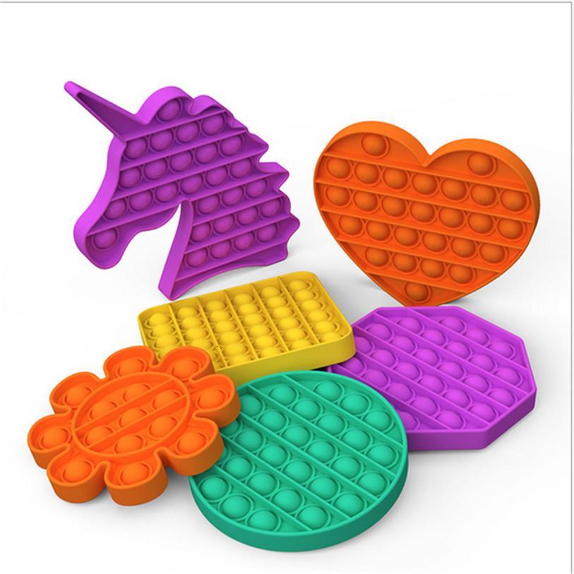 Hot Pop It Fidget Toy Sensory Pop Pop Bubble Board Jogo Sensory Brinquedo Ansiedade Ansiedade Relisor Crianças Adultos Autismo Necessidades Especiais Venda E122202